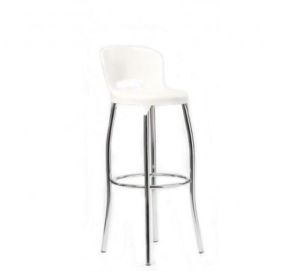 כיסא בר דגם קלאסי לבן - סטטוס ריהוט משרדי