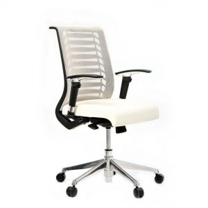 כסא עבודה דגם רובר לבן