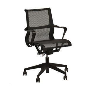 כסא דגם ויטרה רשת שחור