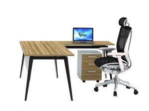 שולחן עבודה דגם V