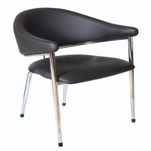 כסא אורח תמיר שחור